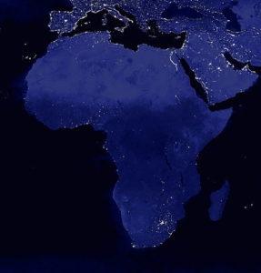 Afrique vue de l'espace de nuit