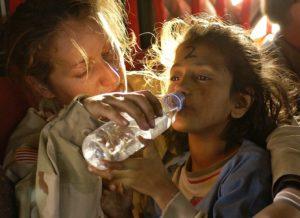 Femme en milieu pauvre